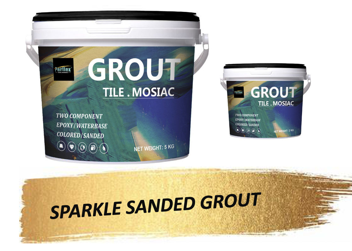 Stain Resistant Mosaic Glitter Epoxy Tile Grout Mortar Cementitious Epoxy Grout
